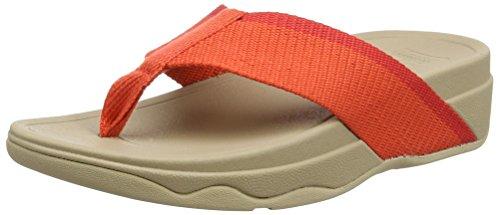 Fitflop Damen Surfa (Pretty) Offene Sandalen Multicolour (Hot Coral/Sporty Pink)