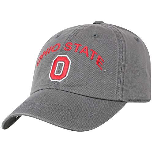 Top of the World Herren Mütze NCAA verstellbar Relaxed Fit Charcoal Arch, Herren, NCAA Men's Hat Relaxed Fit Charcoal Arch Adjustable, Ohio State Buckeyes Charcoal, Einstellbar -