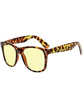 Huicai Gafas de computadora Vintage Protección UV Filtro de luz azul Lente clara Gafas de gafas