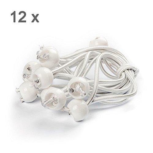 Ampel 24, elastici universali resistenti | 12 elastici corti | elastici bianchi rivestiti | elastici con sfera di fissaggio