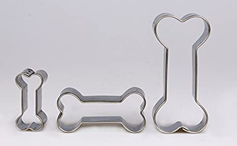 Bone Cookie Cutters, Set of 3Stainless Steel Cookie Cutter
