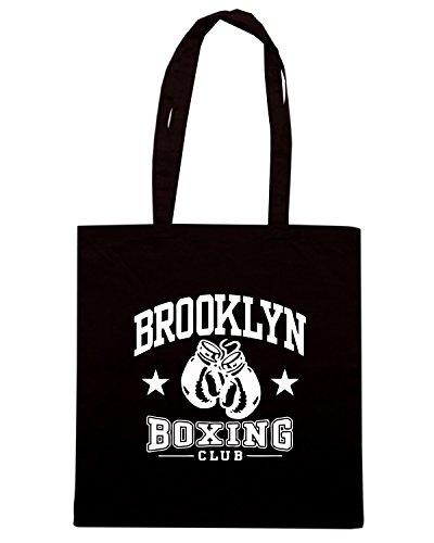 T-Shirtshock - Borsa Shopping TBOXE0075 brooklyn boxing Nero