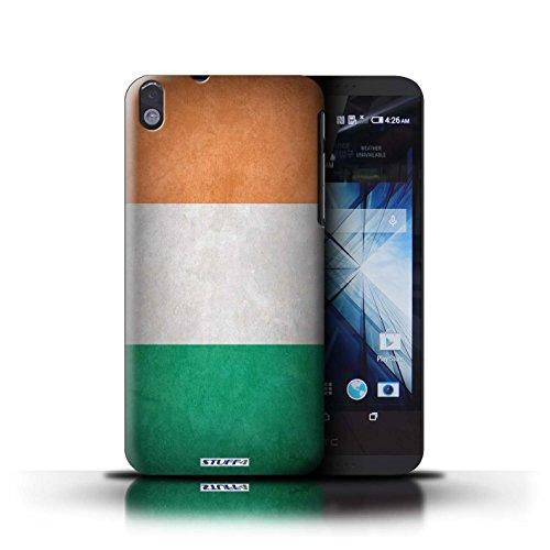 Kobalt® Imprimé Etui / Coque pour HTC Desire 816 / Nigeria conception / Série Drapeau Irlande/irlandais