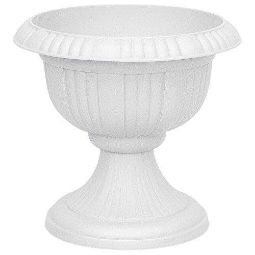 Pflanzkübel rund aus Kunststoff 40 cm Blumenspindel, Farbe: lichtgrau