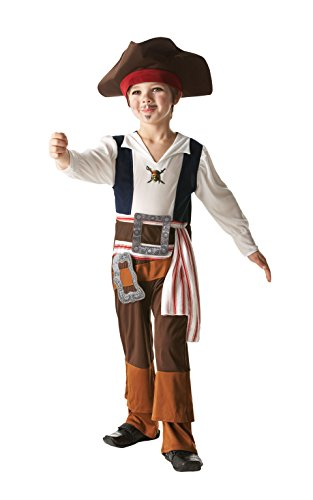 Kostüme Kind Jack Sparrow (Rubie 's Offizielles Disney Pirates of the Caribbean Captain Jack, Kinder)