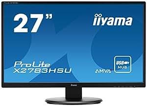 iiyama ProLite X2783HSU-B1 68,6cm (27 Zoll) AMVA+ LED-Monitor Full-HD (VGA, DVI-D, HDMI, USB2.0) schwarz