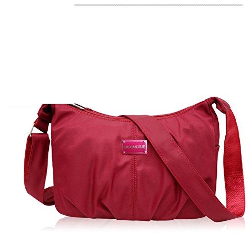 Borse di nylon/borsa a tracolla Incline/Panno impermeabile luce ultra grande capacità/travel and leisure monospalla diagonale pacchetto-E E
