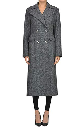 Alberta Ferretti Double Breasted Herringbone Coat Woman 7