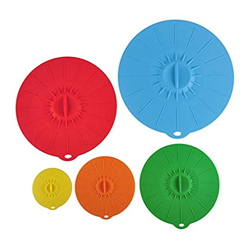 LH-TLMY Silikonstopfen mit luftdichtem Saugnapf, lebensmittelecht, BPA Frei, 10,16 cm, 15,24 cm, 20,32 cm, 30,48 cm, Geeignet für Gläser, Bratpfanne, Sauberkeit und Frisch