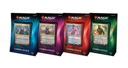 Magic the Gathering Commander 2018 Set of All 4 Decks - Deutsch - MTG