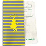 Protège livret de famille motif Marinière jaune et grise Bigoudène Bistrakoo jaune Réf. 4093-2018