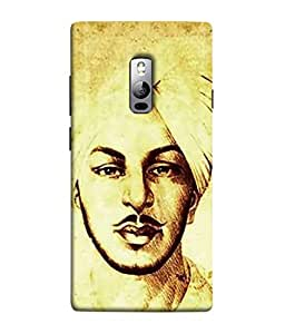 PrintVisa Animated Bhagat Singh Painting 3D Hard Polycarbonate Designer Back Case Cover for OnePlus 2 :: OnePlus Two :: One Plus 2