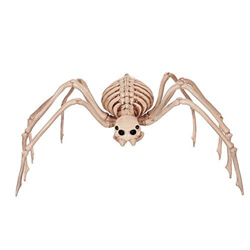 Halloween-Dekoration-Einzelteile Haunted Haus-Stab-Stützen, die Spielwaren-Terror-lustige Schuld-vollständiger Mann-Simulations-Spinnen-Schädel-Zahnstange