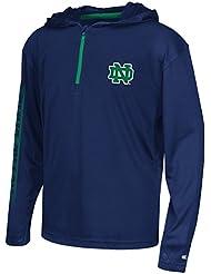 "Notre Dame Fighting Irish Youth NCAA ""Sleet"" 1/4 Zip Pullover Hooded WindShirt Chemise"