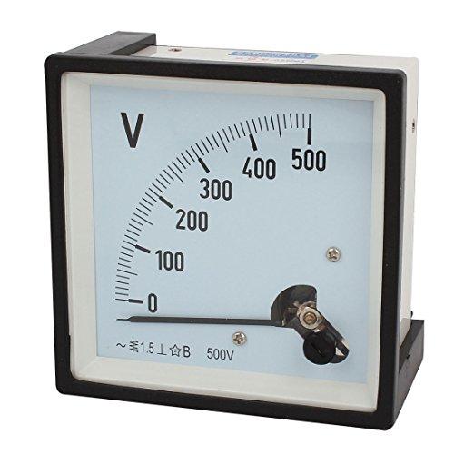 Klasse 1,5Genauigkeit Kunststoff Shell Klar Zifferblatt Voltmeter Gauge AC 0-500V Klar Shell