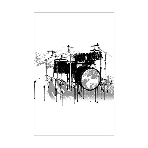 CafePress Mini-Posterdruck, Drum-Set Graffiti