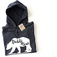 Men's Daddy Bear Hooded Jumper Gifts for men, Gift For Dad,Farther's Day Gift, Jackets For Men, Fathers Day Gift, First Fathers Day, Daddy Bear Hoodie, Daddy Bear Jacket,