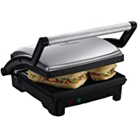 Russell Hobbs 3-in-1 Panini Press, Grill and Griddle 17888 - Stainless Steel