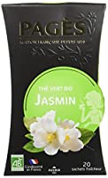Pagès Thé Vert Jasmin Bio 20 sachets - Lot de 2