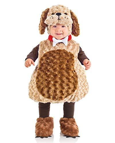 Horror-Shop Süßes Plüschkostüm Hund für Kleinkinder & Babys an Fasching L