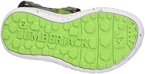 Lumberjack Spongy, chaussures à bouts ouverts garçon Grigio (Lt Grey/Acid Green)