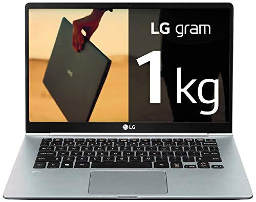 "LG Gram 14Z990-V - Ordenador portátil ultraligero de 14"" FHD IPS (1kg, autonomía 23,5h, Intel i7 8ª gen., 8GB RAM, 256GB SSD, Windows 10 Home) Plata - Teclado Español"