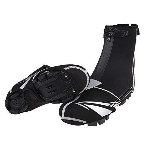Radfahren-Überschuhe Bike Shoes Cover, Wasserdichte Reflektierende Radfahren Überschuhe, Winddicht Fahrrad Überschuhe Regen Schnee Boot Protector Feet Gaiters Mountain Bike Fahrrad warmer Schuh