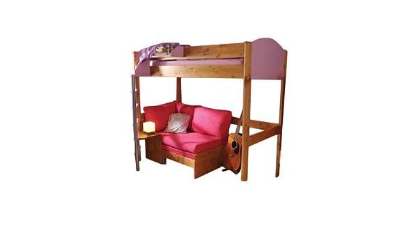 Casa Hochbett Mit Etagenbett Sofa, Bett, Farbe: Pink /, Gestell Und Schrank  Weiß: Amazon.de: Küche U0026 Haushalt