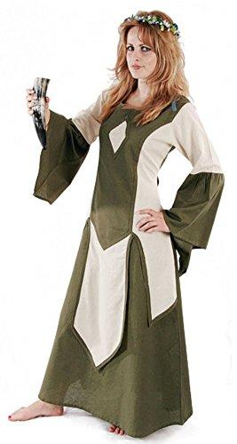 Bäres Mittelalter Kleider kleine Maid - Kinder Marktkleid - Kinder Vedis für 9-11 jährige/natur / olive (Halloween Kostüme Für 11 12 Jährige)