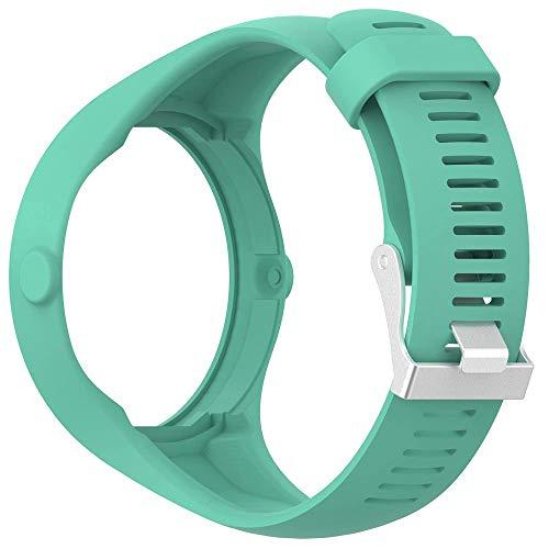 Vamoro Weiche Silikonkautschuk-Uhrenarmband-Handschlaufe für die Polar M200 Fitness-Uhr Silikonband Ersatz Uhren-Armband(Blau)