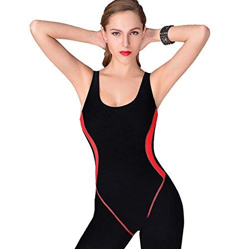ZOYOL-YT Damen Modesty Overall One Piece Badeanzug Surfing Anzug Kurzarm UPF 50+ Schwimmen Kostüm , black , l (Kleinkind Ariel Kostüm)