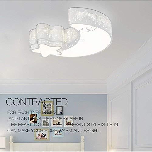 WHKZH Simplificado y Moderno Dormitorio para niños Sala de Comedor Comedor Lounge Rectangular Led Luces de Techo Color de luz de Techo: 3-Color Dimmingm-2-Head-B,Oscurecimiento de Tres Colores Amari