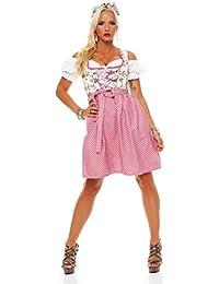 Fashion4Young Dirndl 3 tlg.Trachtenkleid Kleid Mini Bluse Schürze Trachten Oktoberfest