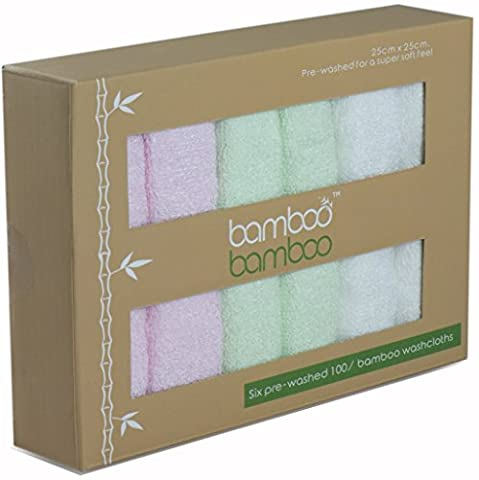 ORGANIC Bamboo premium reusable washcloths Naturally Hypoallergenic Anti-Bacterial and Ultrasoft