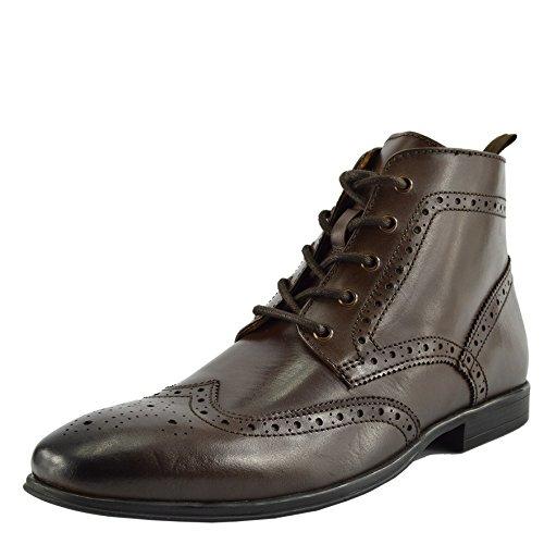 Cuir Qualité Desert Brun Casual Chaussures Hommes Boots En De H80qHwnx