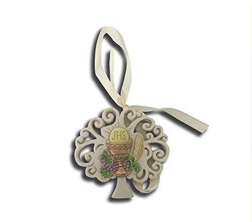 Takestop set 12 pezzi bomboniera bomboniere comunione calice albero della vita simbolo sacro sacramento eucarestia ceramica appendino