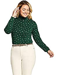 58a6180ec8a Lands  End Women s Plus Size Relaxed Cotton Mock Turtleneck