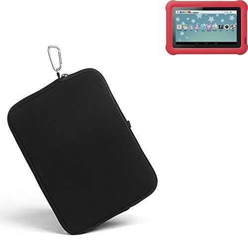 K-S-Trade® für Medion Lifetab S7321 Neopren Hülle Schutzhülle Neoprenhülle Tablethülle Tabletcase Tablet Schutz Gürtel Tasche Case Sleeve Business schwarz für Medion Lifetab S7321