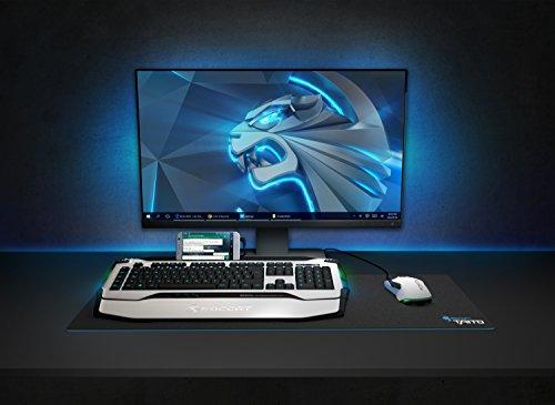 ROCCAT Skeltr Smart Communication RGB Gaming Tastatur (DE Layout, Bluetooth für Mobilgeräte, Docking-Slot) weiß - 3