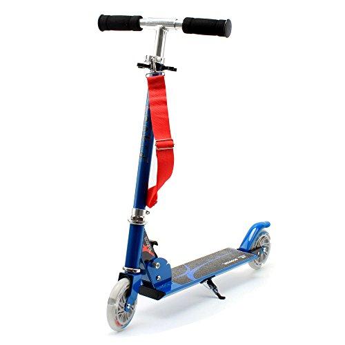 Honkid Roller Tretroller Cityroller Kinderroller, 2 räder Scooter Klappbar mit Aluminium-Legierung,Höheeinstellbare 63 - 85cm, blau