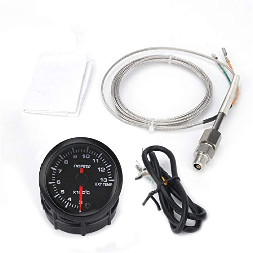 Candybarbar CNSPEED 12V 1300 ℃ Auto Car LED Digital Medidor de Temperatura del Aceite Medidor 52mm...