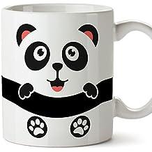 Mugffins Oso Panda Tazas Originales de Desayuno - Animales Graciosos Ideas para Regalos - Cerámica 350