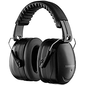 Ear Defenders Adult - Foldable Hearing Protection Ear Muffs Noise Cancelling - Perfect for DIYm Working, Shooting, Gardening - Adjustable Headband for Adults Men Women - 2 Years Warranty - Black