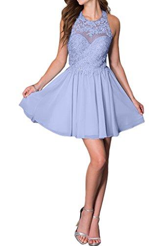Promgirl House Damen Chic Hellblau Rosa Lavendel A-Linie Spitze Ballkleider Cocktail Abendkleider Kurz-34 Lavendel (Lavendel-kleid-schuhe)