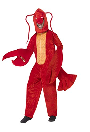 Circus Dress Up Ideen - Smiffys, Herren Hummer Kostüm, Bodysuit mit