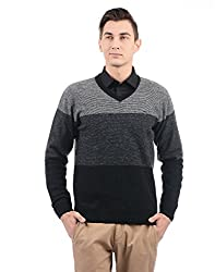 Monte Carlo Men Sweater(_8907678285246_Grey Black_42_)