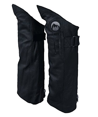 motorcycle-biker-leather-half-chaps-medium-by-allstate-leather