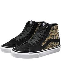 Hombre Negro Leopardo Vans para Zapatillas de Lona qwzwIC4