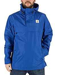 Franklin & Marshall Hombre Logotipo Cierre central bolsillo de la chaqueta, Azul