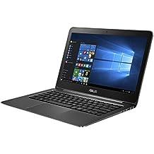 """ASUS UX305UA-FC005T - Ordenador portátil de 13.3"""" (Intel Core i5-6200U, 4 GB de RAM, SDD de 128 GB, Intel HD Graphics 520, Windows 10), metal negro - Teclado QWERTY Español"""